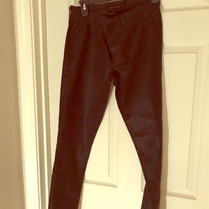 Calvin Klein Jeggins Black Shinny Stretchy